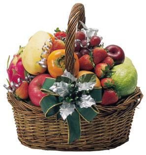 水果篮的包装的步骤